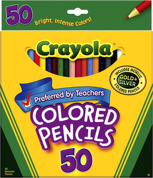 Crayola Colored Pencils 50 Pkg.