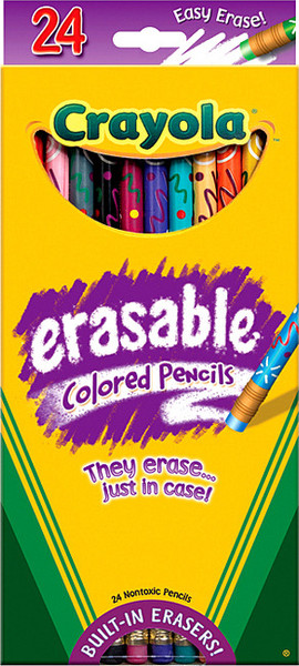 Crayola Erasable Colored Pencils 24 Pkg.