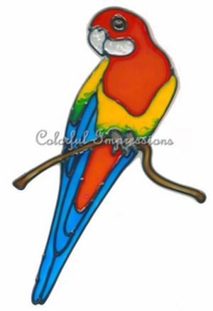 Crimson Rosella Bird Window Cling