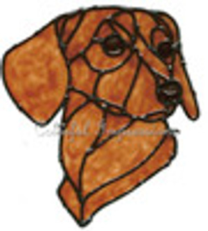 Dachshund Faux Stained Glass Window Cling