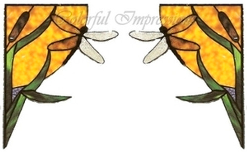 Dragonfly Corner Window Cling Set