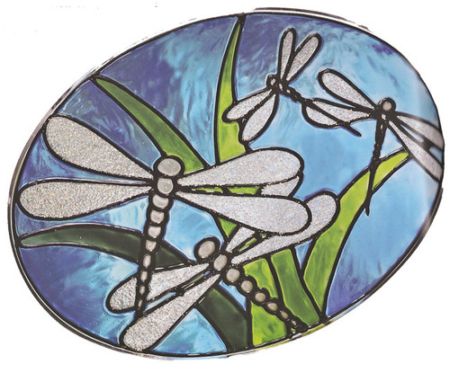 Dragonfly Oval Window Cling
