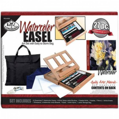 Easel Art Set W/Storage Bag - Watercolor