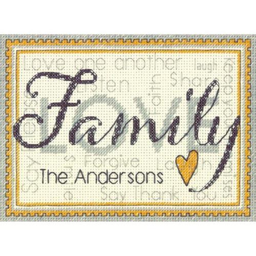 Family Mini Counted Cross Stitch Kit