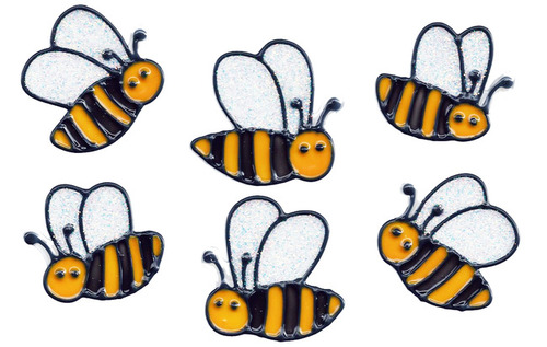 Bumble Bee Window Clings (6)
