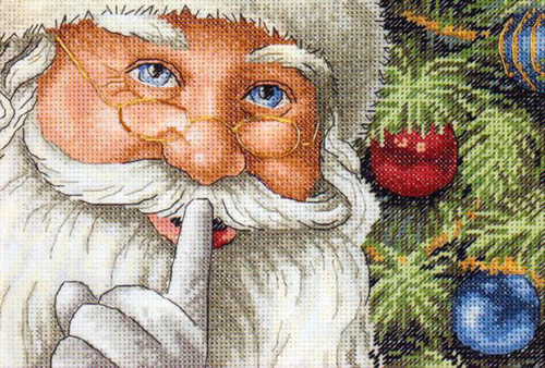 Gold Collection Petite Santa's Secret Counted Cross Stitch Kit