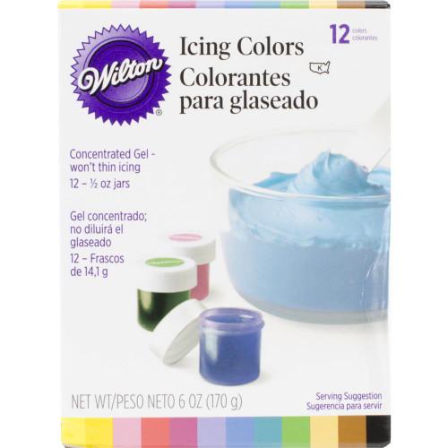 Icing Colors .5oz 12/Pkg - Assorted Colors