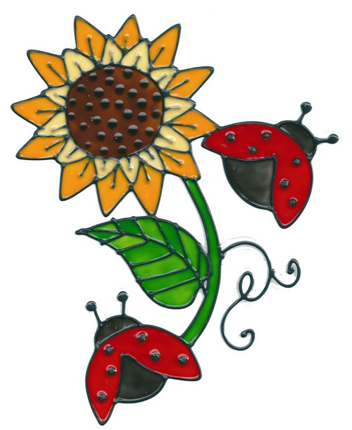 Ladybugs & Sunflower Window Cling