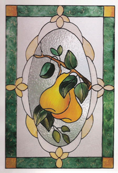 Pears Faux Stained Glass Window Film