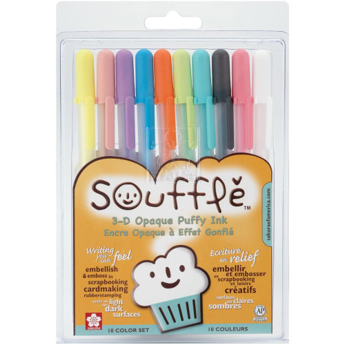 Gelly Roll Souffle Opaque Puffy Ink Pens 10/Pkg