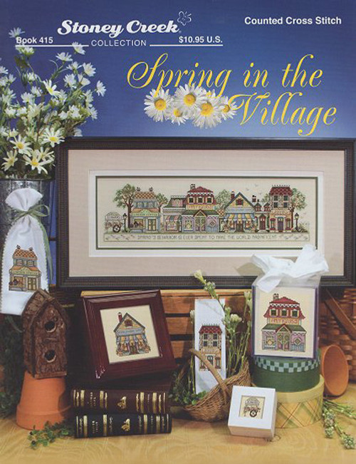Spring In The Village Counted Cross Stitch Chart