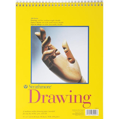 """Strathmore Spiral Drawing Paper Pad 9""""X12"""""""