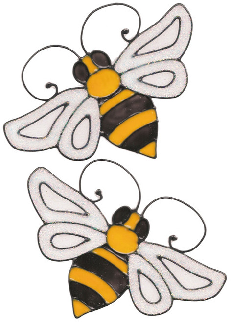 Bumble Bee Window Clings (2)