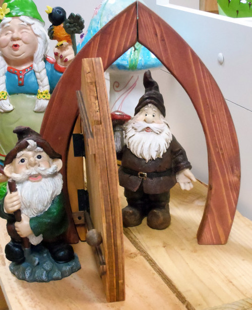 Wooden Fairy / Gnome Door (Opened)
