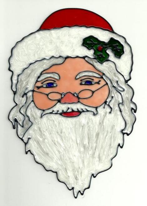 Cheerful Santa Claus Window Cling