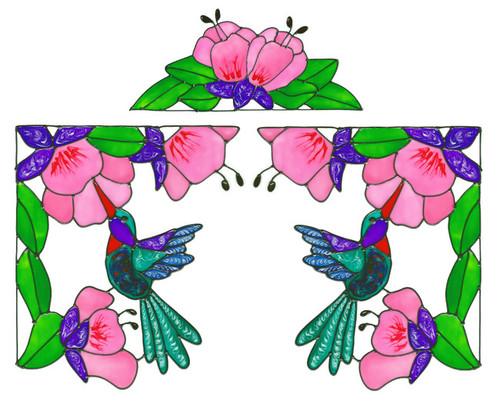Hummingbird Corner Window Cling Set (1)