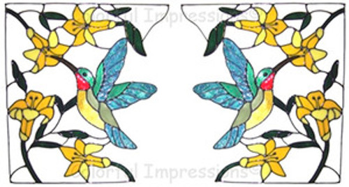 Hummingbird Corner Window Cling Set (3)
