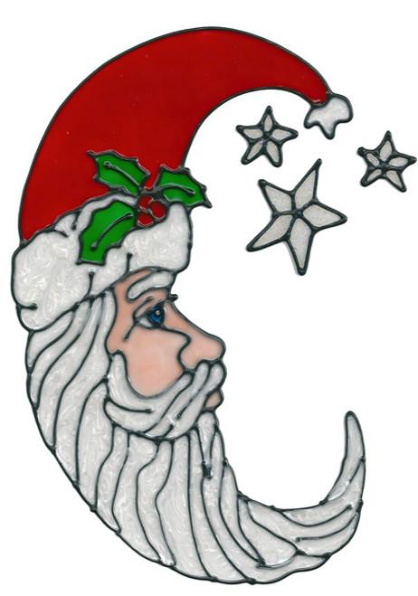 Cresent Santa Window Cling