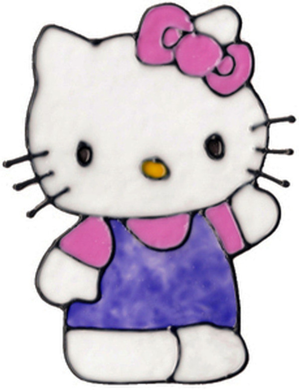 Hello Kitty Waving Window Cling