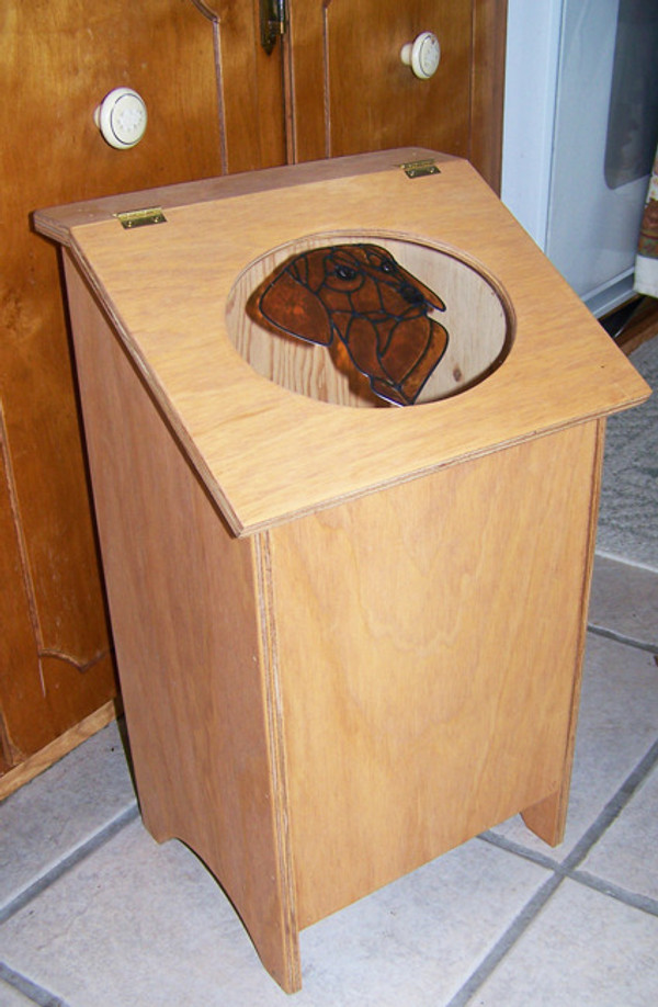 Pet Food Storage Bin - Dachshund