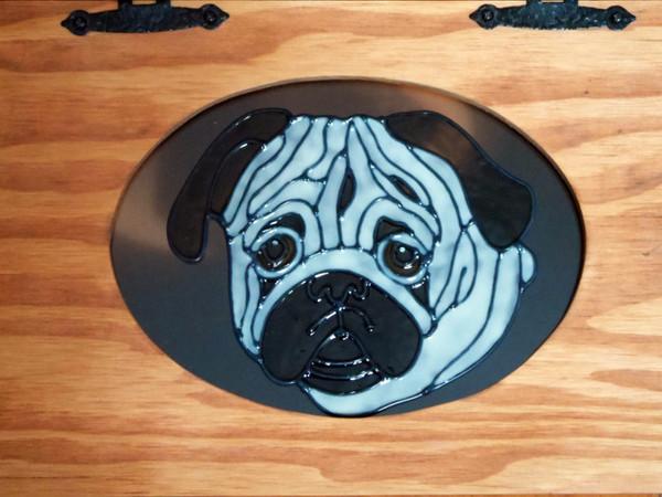 Pet Food Storage Bin - Pug