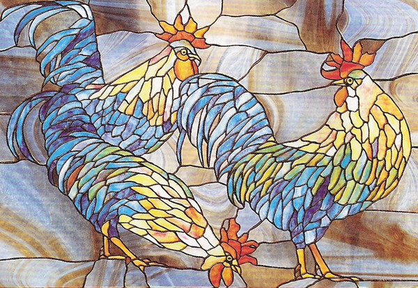 Rooster Trio Privacy Window Film