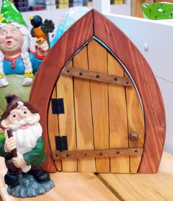 Wooden Fairy / Gnome Door (Opened)