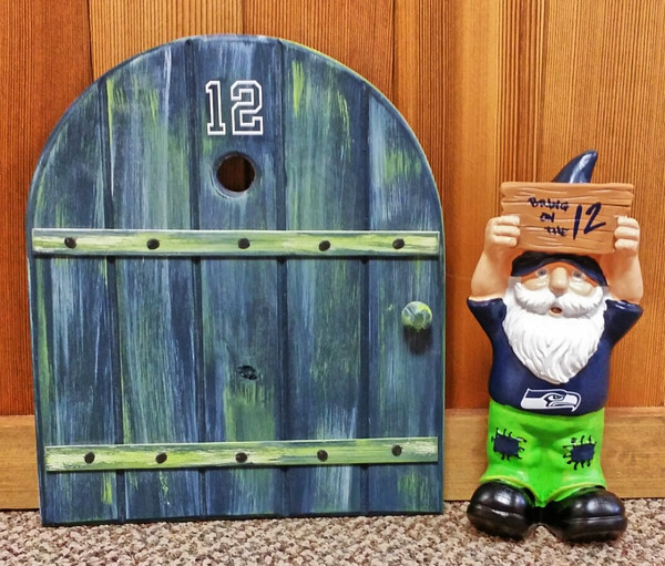 12th Man Seahawk Gnome Door