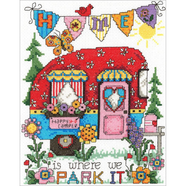 Happy Camper Counted Cross Stitch Kit