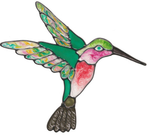Hummingbird Window Cling - Colorful