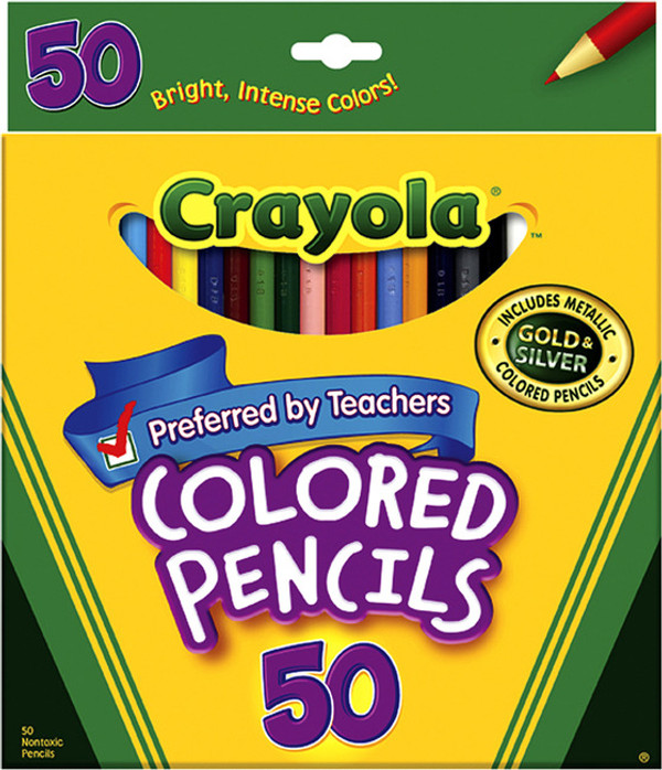 Crayola Colored Pencils 50 Pkg.