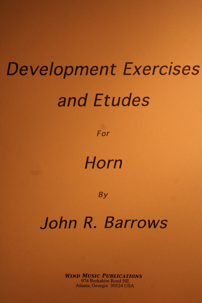Barrows, John - Development Exercises & Etudes