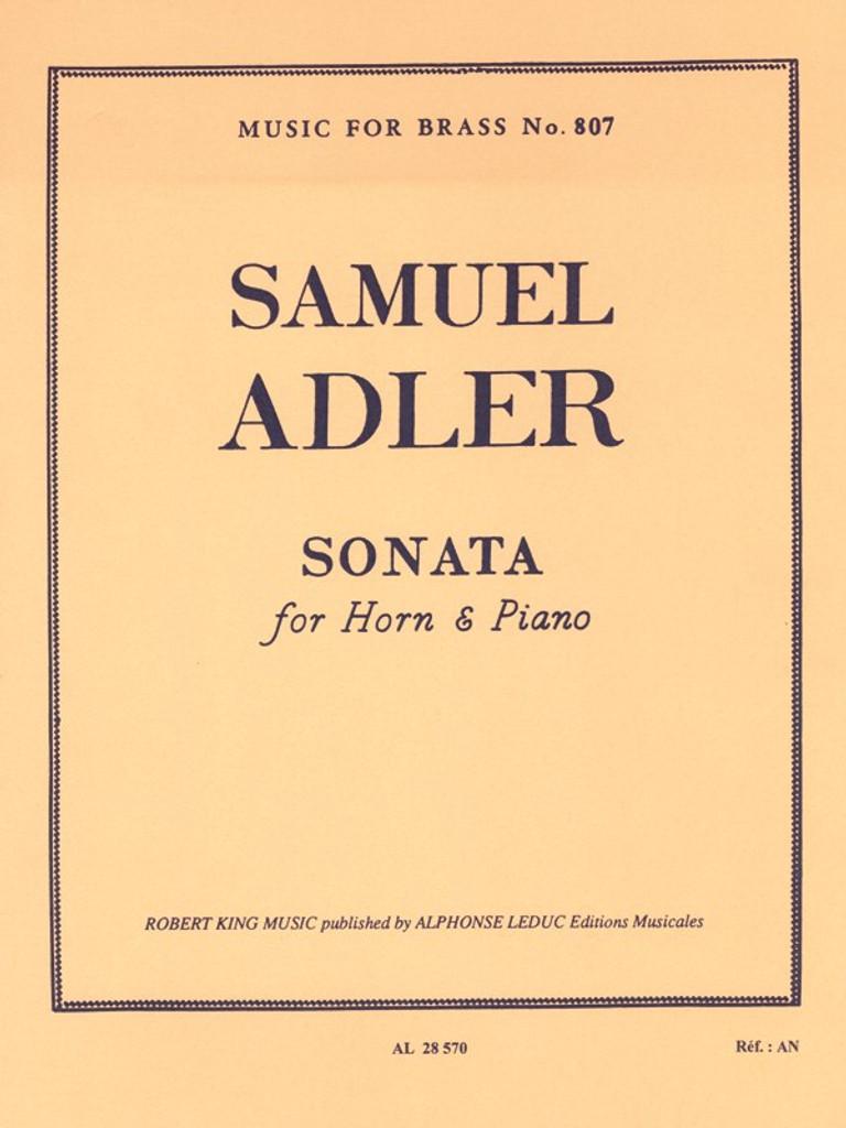 Adler, Samuel - Sonata For Horn & Piano