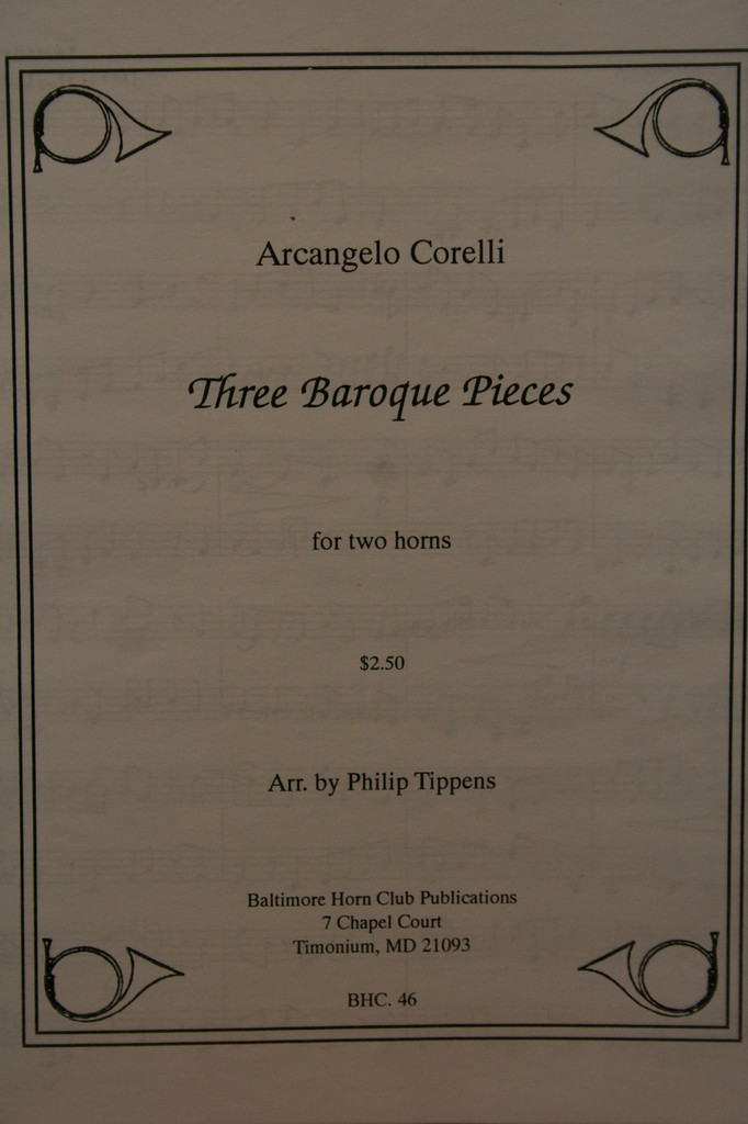 Corelli, Archangelo - 3 Baroque Pieces
