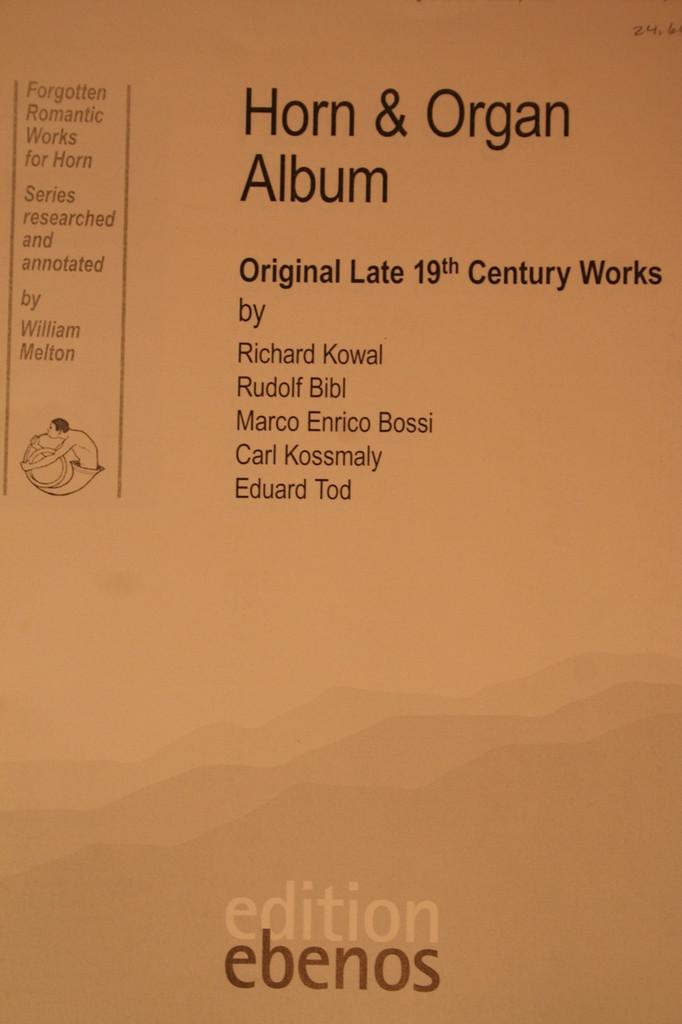 Melton, William - Horn & Organ Album