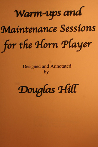 Hill, Douglas - Warm-ups And Maintenance Sessions