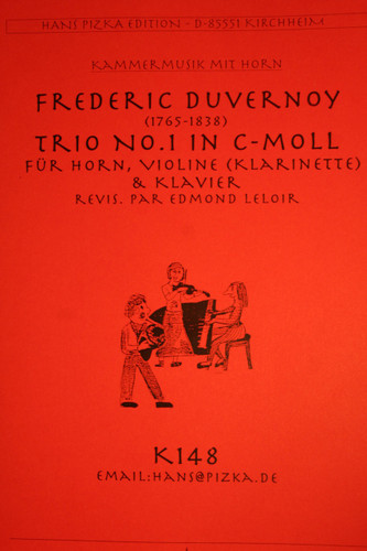 Duvernoy, Frederic - Trio No.1 in C