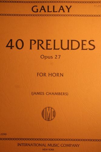 Gallay, J.F. - 40 Preludes, Op. 27
