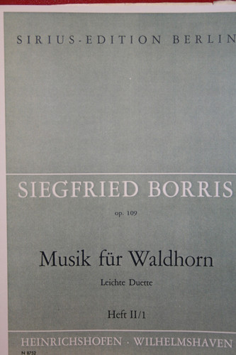 Borris, Siegfried - Easy Duets For Two Horns