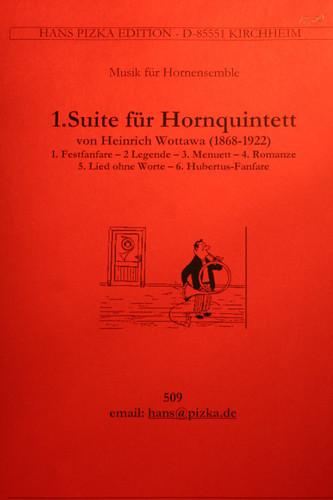 Wottawa, Heinrich - Suite For Horn Quintet, No. 1