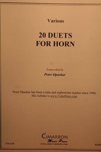 Misc - 20 Duets for Horn (Bach, Chopin, Sousa, Etc)
