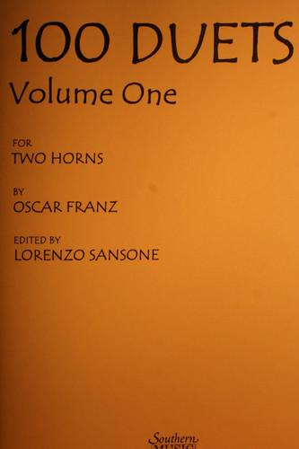 Franz, Oscar - 100 Duets, Vol. 1