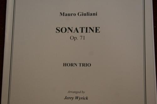 Giuliani, Mauro - Sonatine Op. 71 Horn Trio