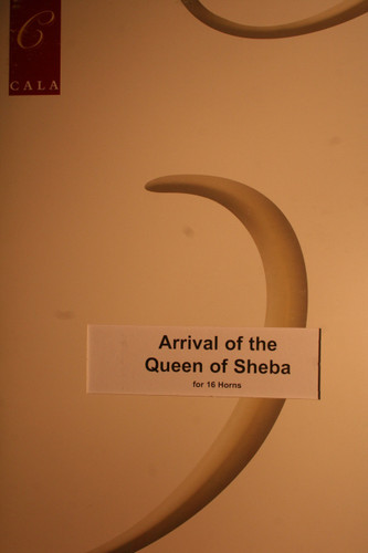 Handel, G.F. - The Arrival Of The Queen Of Sheba (16 Horns)