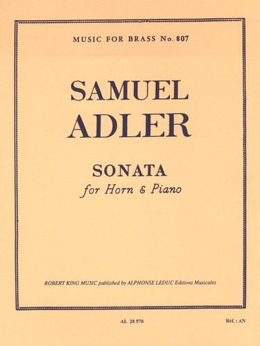 Adler, Samuel - Sonata For Horn & Piano