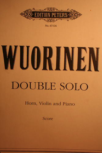 Wuorinen, Charles - Double Solo (Horn, Violin, Piano)