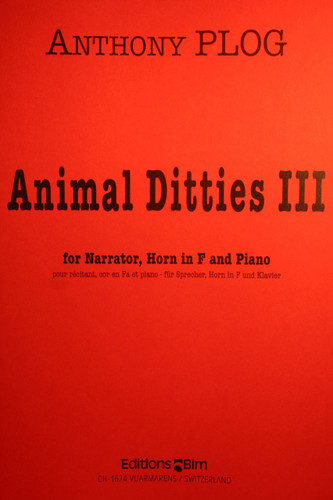 Plog, Anthony - Animal Ditties III