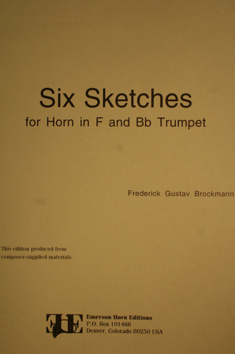 Brockmann, Frederick Gustav - Six Sketches