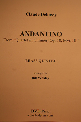 "Debussy, Claude - Andantino From ""Quartet In G Minor, Op. 10, Mvt. III"""