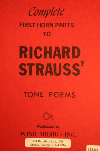 Strauss, Richard - Complete 1st Horn Parts (Tone Poems)
